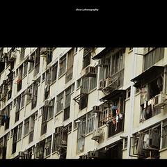 stopping by at Shek Kip Mei Estate  - public housing (Chez C.) Tags: street city windows shadow urban abstract public architecture hongkong design flats housing urbam