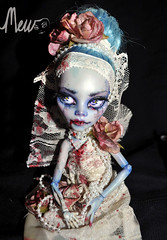 DSC_0024 (Madalyn West Studio) Tags: wedding bride blood doll paint zombie ooak undead repaint monsterhigh ghouliayelps