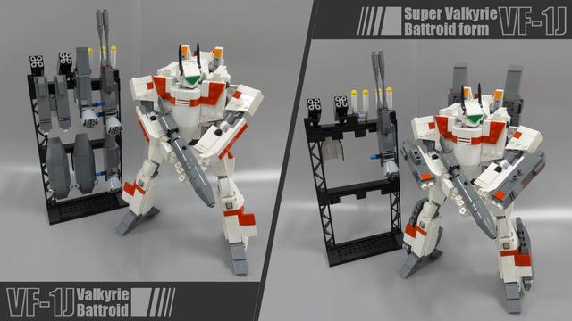 LEGO 玩家自製Macross VF-1!