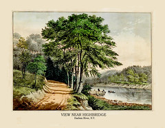 View Near Highbridge, Harlem River, New York, about 1861 (JFGryphon) Tags: bronx manhattan westchester highbridge oldprint harlemriver viewnearhighbridge newyork1861