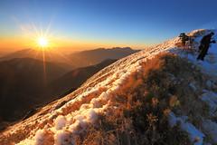 拚勁 (mndmajoy) Tags: 台灣 雪 合歡山 南投縣 主峰