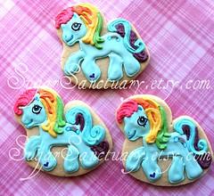 Rainbow Dash Pony (Sugar Sanctuary (Beka)) Tags: birthday cookies cookie sugar favor favors