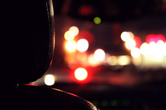 (Kelly Abigail) Tags: street streets reflection cars beauty car night canon eos rebel lights back view traffic time bokeh seat abigail kelly find anywhere t3i