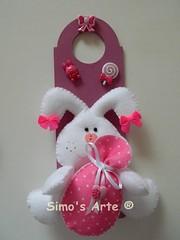Placa para porta (Efeltro Borboleta) Tags: páscoa feltro coelho enfeitedeporta enfeitedemaçaneta