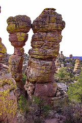 Kissing Rocks Formation - Heart of Rocks Trail - Chiricahua National Monument (Al_HikesAZ) Tags: county camping arizona usa monument rock duck rocks heart loop hiking path hike adventure formation trail national rhyolite cochise formations hoodoos tuff welded rockformation chiricahua cochisecounty weldedtuff chiricahuanationalmonument duckonarock azhike alhikesaz heartofrocks heartofrocksloop