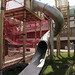 Three Corners Playground, Clerkenwell, designed and constructed by Monkey-Do. www.monkey-do.net  After we finished, before the playground opened...