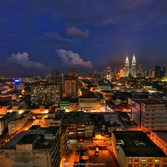 Kuala Lumpur - Blue Hour (Firdaus Mahadi) Tags: sky tower night clouds landscape cityscape petronas twin mosque malaysia kualalumpur awan kl klcc masjid malam twintower goldentriangle langit petronastwintower      kualalumpurcitycentre     firdausmahadi firdaus wwwfirdausmahadicom