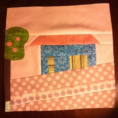 Wonky house 2/11 (Frecklemama) Tags: quiltblock wonkyhouse