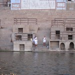"Bathers on the Ganges <a style=""margin-left:10px; font-size:0.8em;"" href=""http://www.flickr.com/photos/14315427@N00/6879371303/"" target=""_blank"">@flickr</a>"