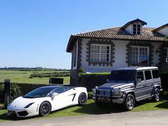 Lamborghini LP560-4 Bicolore & Mercedes-Benz G55 AMG (Henrique Stefanichen) Tags: mercedesbenz lamborghini g55 amg bicolore lp5604