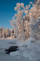 Akasmylly (Tonton Dave) Tags: winter snow ice finland river landscape hiver lappland rivière neige paysage glace laponie akäskero akäsmylly