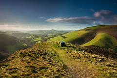 The Sugar Loaf (MarkE_T) Tags: landscape smcpentaxda1645mmf4edal pentaxk10d valley breconbeacons thesugarloaf grass sunny wales