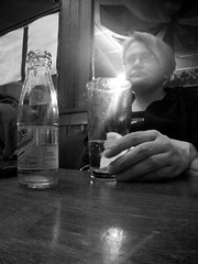 091/366 In the pub, again (LPM) Tags: uk portrait blackandwhite selfportrait me hand pentax year gin 2012 366 365days 365project catherinecurrie optiow80