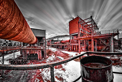 history in red (geopalstudio) Tags: industrial 8mm hdr d60 samyang kremikovci promoteremotecontrol