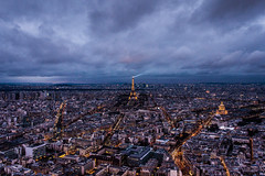 "Paris at twilight ... and now ""explored"" on flickr , Thanks :) (Verian Mancina) Tags: city white paris france tower landscape la twilight frankreich tour grim eiffeltower eiffel montparnasse franais parisien explored verian mancina verianmancina canoncitylife"