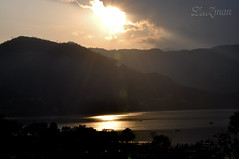 ~When The Sun Goes Down At Sunset, It Will Take a Part of Your Life With It ~ (Lenzmaan [ LiL Busy ]) Tags: nepal sunset nikon pokhara d90 fewalake
