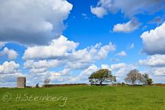 the field next to us [K548] (HaukeSteinberg.com) Tags: trees ireland tower field clouds spring pasture kinvara