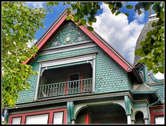 500 N McBride St ~ Syracuse NY ~ Architecture ~ Queen Anne/Victorian (Onasill) Tags: county new york house ny tower window st architecture anne state balcony victorian n style historic queen porch mission syracuse mansion 500 turrets gable mcbride onondaga onasill