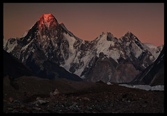 dusk on the gasherbrum massif (doug k of sky) Tags: pakistan camp twins doug 4 7 glacier gore karakoram iv vii massif karakorum baltoro gasherbrum mountainscapes kofsky artcat18871