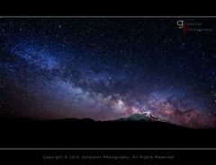 Nocturne Eruption (Goldpaint Photography) Tags: mountshasta milkyway earthandspace competition:astrophoto=2012