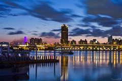 (yaosu010) Tags: bridge blue sky night taiwan taipei    northbridge  ringexcellence dblringexcellence  tplringexcellence eltringexcellence