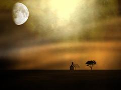 Keep your flame lit, and you will never feel darkness.  ~J. Parker (~~Heavenxxx89 Art & Photography~~Busy) Tags: sunset moon texture moonlight textured creativeart texturedlandscape magicunicornverybest magicunicornmasterpiece mygearandme photoshopcs5 mygearandmepremium ringexcellence