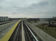 Airtrain JFK (lotosleo) Tags: newyork airport rail railway jfk airtrain transportation elevated terminals induction bombardier