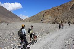Going that way !on a Multi sport treking Mountain biking rafting kayaking trip in Nepal