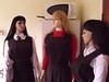 gymslip girls 034 (gymslip-connoiseur) Tags: school girls uniforms gymslips gymslipimages gymslipgirls browngymslips