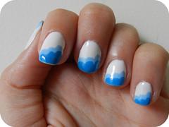 nuvens (Jaqueline Silva) Tags: branco azul nuvens impala guga risque esmalte artnail