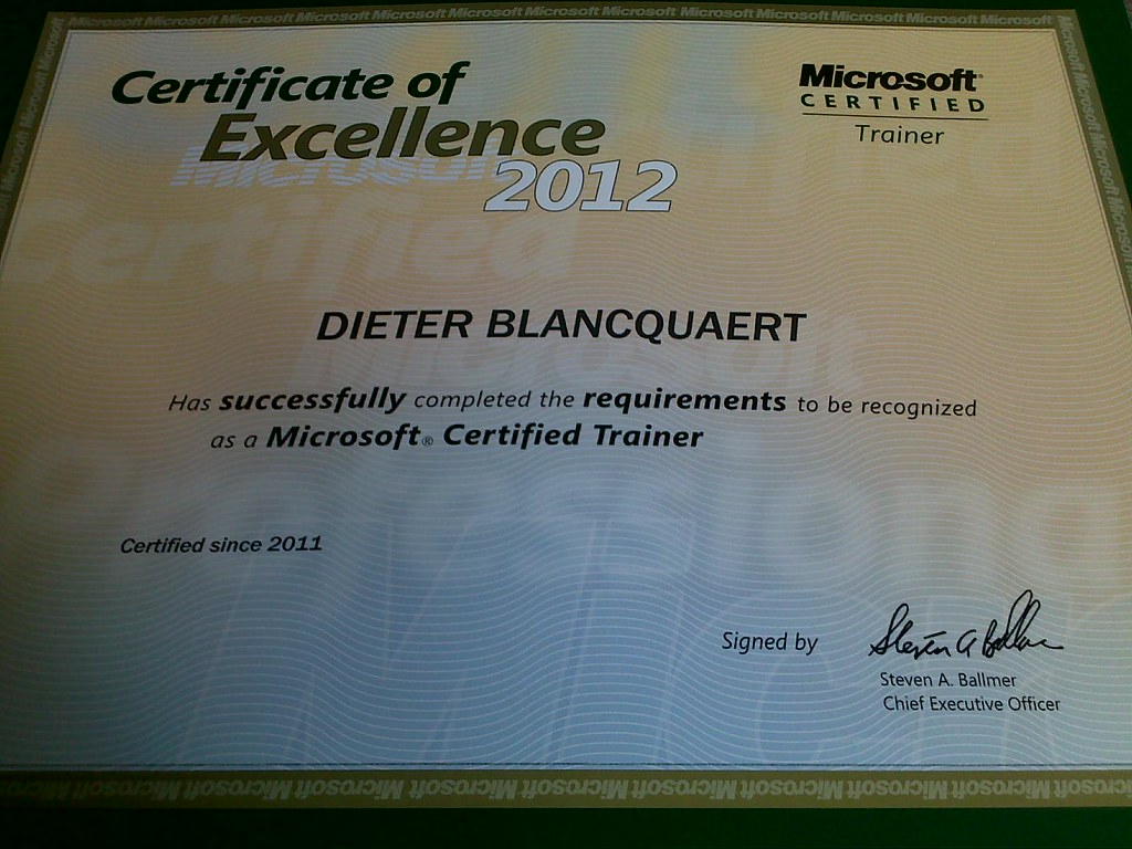 The worlds newest photos of certificate and microsoft flickr mct dblancquaert tags certificate microsoft xflitez Choice Image