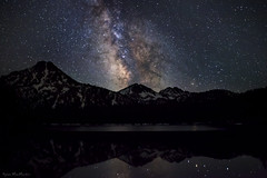 Nocturnal Rapture (Dylan MacMaster) Tags: sky snow reflection night oregon stars nightscape bluemountains milkyway anthonylakes gunsightmountain elkhornmountains