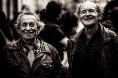 The protesters (morten almqvist) Tags: old men smiling zeiss happy republic czech sigma jena brno carl m42 135mm cejl sd14