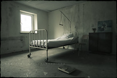 In Absentia (Pt. One) (Midnight - Digital) Tags: window hospital bed mood decay room atmosphere urbanexploration sanatorium ue urbex absence derelicted