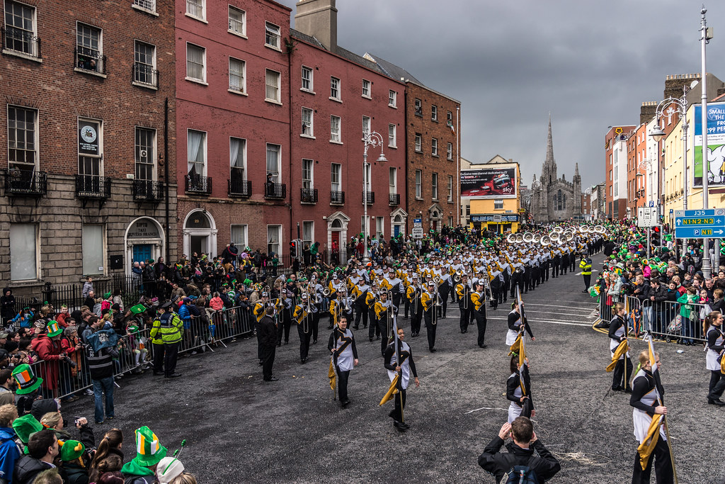 "Marching Mizzou, also known as the ""Big 'M' of the Midwest - St. Patrick's Day 2012"