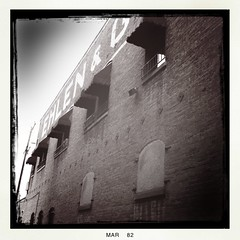 Ehlen (Nicholas LaCroix Photography) Tags: old blackandwhite bw orange brick vintage town lomo lomography orangecounty rundown iphone hipstamatic
