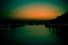 I hear the darkness breathe (surfingstarfish) Tags: bridge sky water night river dark town wasser gloomy darkness dusk himmel stadt heidelberg dmmerung brcke fluss neckar dunkel dunkelheit abendnacht