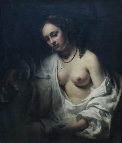 """Willem Drost (1633-1639), """"Bethsabée recevant la lettre de David"""", 1654. Musée du Louvre (Paris, France)"""