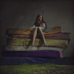 the princess who lost her peas (brookeshaden) Tags: abandoned colors fairytale photography peas derelict fineartphotography theprincessandthepea grimm mattresses abandonedroom conceptualphotography brookeshaden