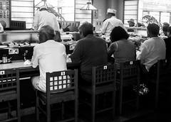 A sushi in Kamakura (jeans.man59) Tags: white black building monochrome japan shop contrast sushi temple groom tokyo vacances noiretblanc kamakura taxi saturation contraste japon mairie japonais reportage ascenseur bouda arien japonaise sushishop monoshot plagetokyo