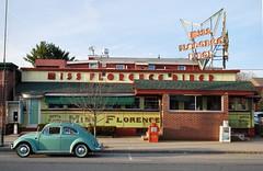 Miss Florence Diner, Northampton, Mass. (63vwdriver) Tags: car vw vintage bug volkswagen ma lunch florence northampton neon massachusetts beetle diner company mass miss porcelain 1941 flo worcester 1963 wlc 775