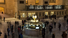 Hustle and bustle in Grand Central (Shane in the City) Tags: clock train subway harlem railway trainstation commuter newhaven grandcentral metronorth commuterrailroad passengerinformation