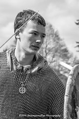 [2014-04-19@11.24.35a] (Untempered Photography) Tags: history monochrome costume fight medieval tournament weapon sword combat armour reenactment skirmish combatant chainmail canonef50mmf14 perioddress mailarmour untemperedeye canoneos5dmkiii untemperedeyephotography glastonburymedievalfayre2014