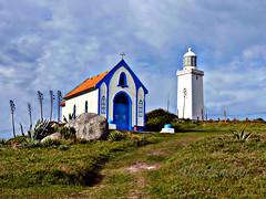 capela e Farol de Santa Marta (silwittmann) Tags: blue brazil sky lighthouse white sc brasil buildings chapel laguna farol capela faroldesantamarta favescontestwinner