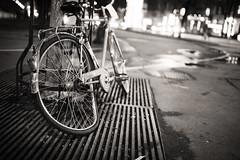 Anyone have a spoke wrench? (Dusty J) Tags: vienna blackandwhite monochrome bike bicycle night lights austria nikon europe bokeh dustin d750 velo bicyclebicicletta gaffke dustingaffke