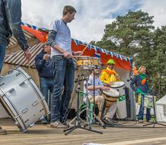 the band (stevefge (away travelling)) Tags: people music netherlands nijmegen drums nederland drummer goffertpark koningsdag kingsday nederlandvandaag reflectyourworld
