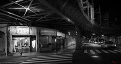 Bajo la autopista (Picardo2009) Tags: life city travel monochrome japan night tokyo monocromo cityscape nightshot citylife viajes nocturna asakusa japon nocturne picoftheday flickraward