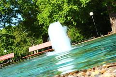 Fountain (Nathalie_Dsire) Tags: blue nature water fountain bench stuttgart seat seats benches schlossgarten