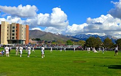 Lacrosse at University of Utah soccer field (ali eminov) Tags: mountains sports landscapes utah saltlakecity lacrosse universityofutah universities wasatchmountains athleticfields