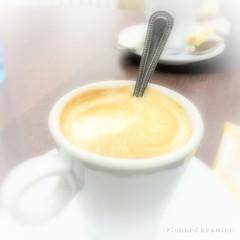 Un cortado... (RichardK2010) Tags: coffee breakfast cafe spain alicante highkey desayuno iphone cortado